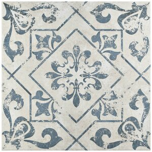"Alana 17.75"" x 17.75"" Ceramic Field Tile in Blue"