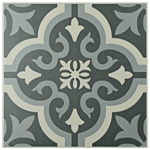 "Tamara 7.75"" x 7.75"" Field Tile in Black"