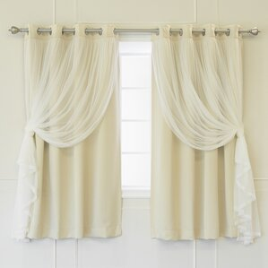 Anabelle Thermal Blackout Energy Efficient Grommet Curtain Panel Pair (Set of 2)