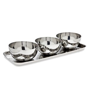 4-Piece Ariana Dip Bowl & Tray Set
