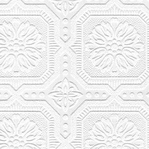 "Flora 33' x 20.5"" Damask 3D Embossed Wallpaper"