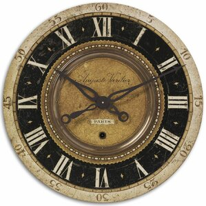 August Round Oversized Wall Clock