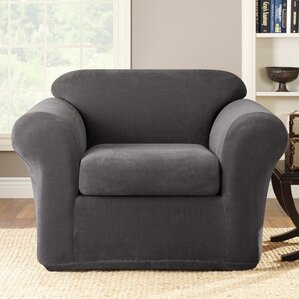 Stretch Metro 2-Piece Armchair Slipcover  by Sure Fit