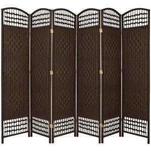 """Leopold 67"""" x 76"""" Weave 6-Panel Room Divider"""