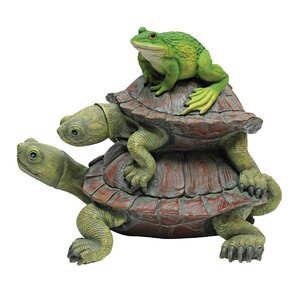 Frog & Turtle Statue