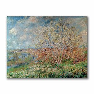 Spring, 1880 by Monet Canvas Print