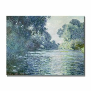 Branch of the Seine Near Giverny by Monet Canvas Giclee Print