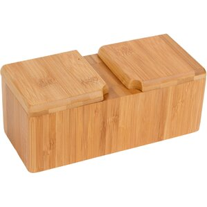 Bamboo Salt & Pepper Box