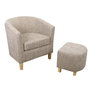 Jamie Tub Chair and Footstool
