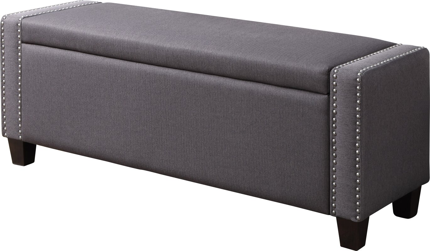 Baxton studio brighton button tufted upholstered modern bedroom bench - Defaultname