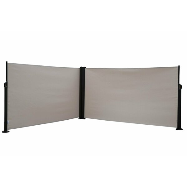 Abba Patio 62 4 X 236 4 Retractable Folding Screen Fence Privacy 2 Panel Room Divider Reviews Wayfair