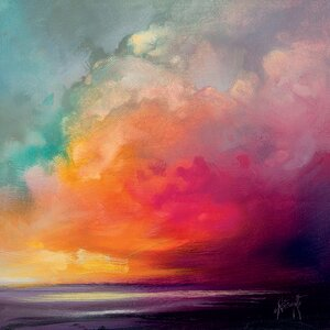 'Sunset Cumulus Study 1' by Scott Naismith Wall art on Canvas