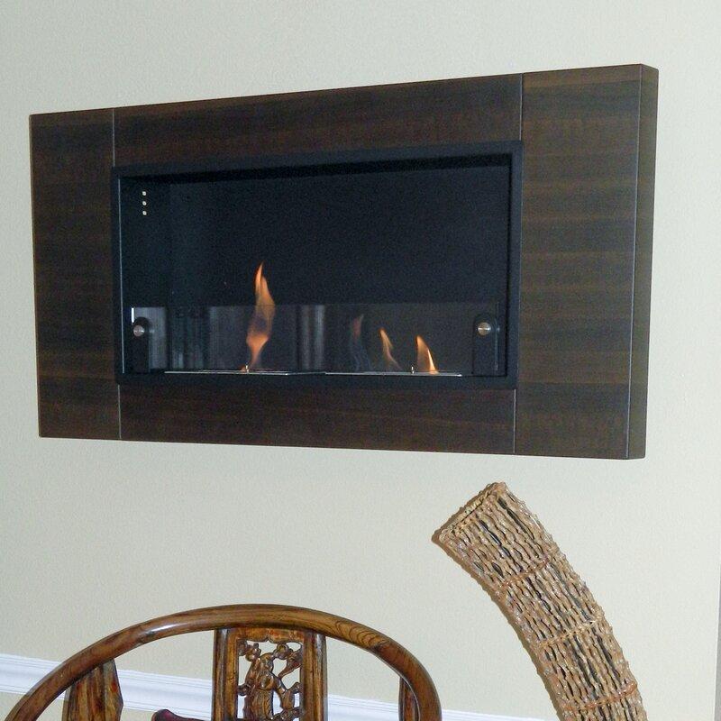 Mercury Row Caherty Finestra Du Wall Mount Bio Ethanol Fireplace