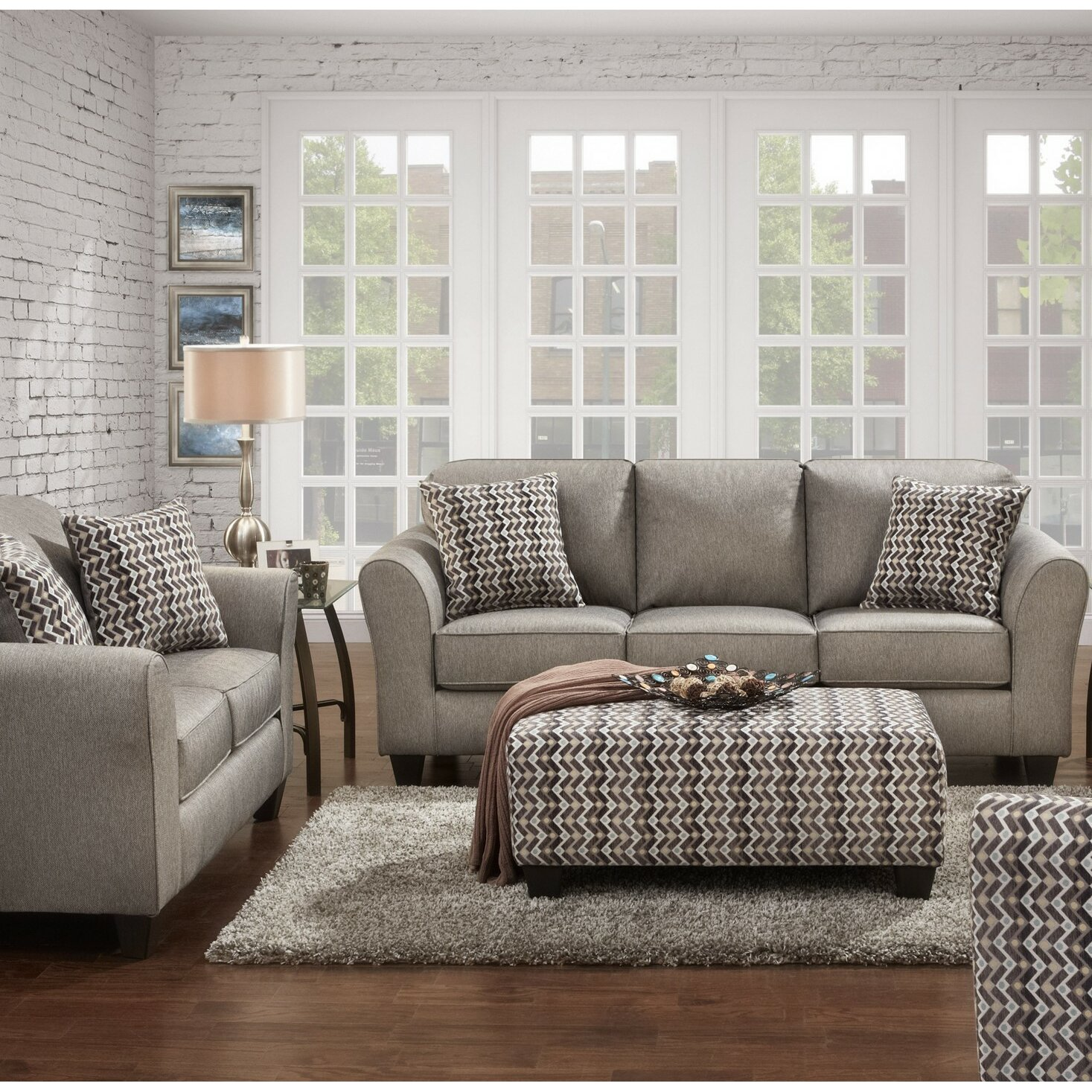 brayden studio leos 3 piece living room set. Black Bedroom Furniture Sets. Home Design Ideas