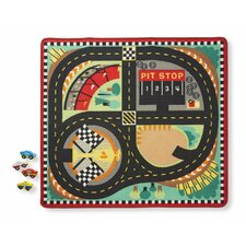 Round the Speedway Race Track Area Rug