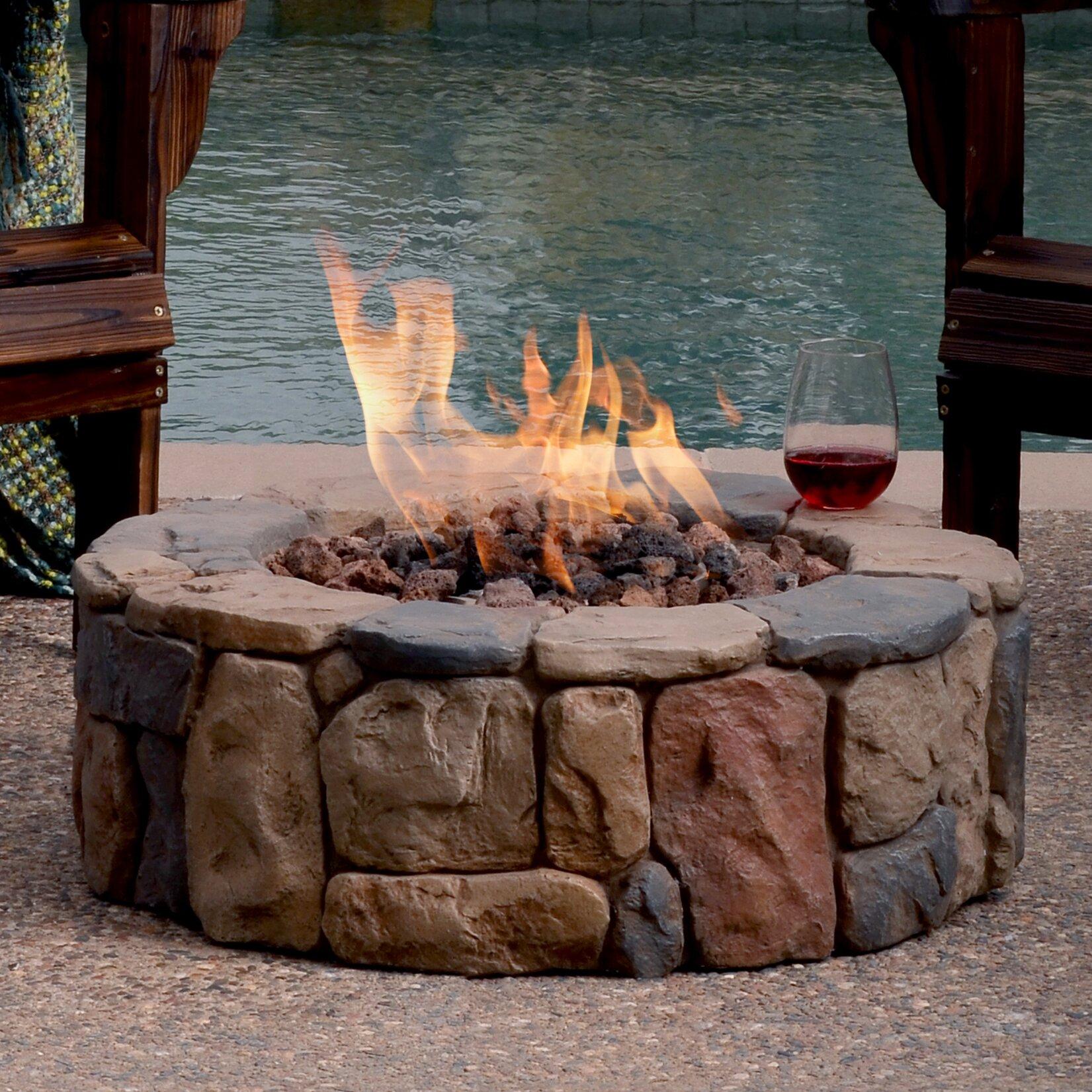 Propane fire pit on wood deck - Petra Envirostone Propane Gas Fire Pit