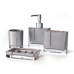 Cristal 4 Piece Bathroom Accessory Set
