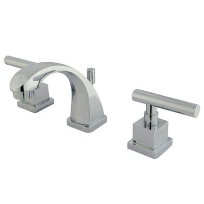 Claremont Mini Widespread Double Handle Bathroom Faucet With Brass Pop Up  Drain