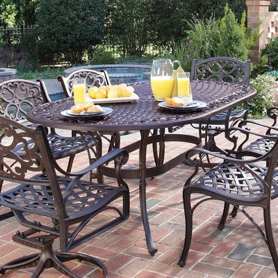 Van Glider Oval Outdoor Dining Table