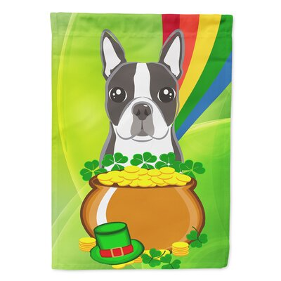 Boston Terrier St Patrick S Day 2 Sided Garden Flag