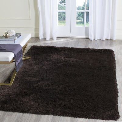 Beautiful Thom Filicia Shag Hand Tufted Brown Area Rug