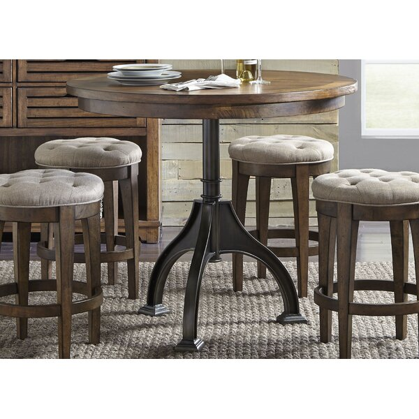 Williston forge tucker black round dining table reviews wayfair - Tucker dining room set ...