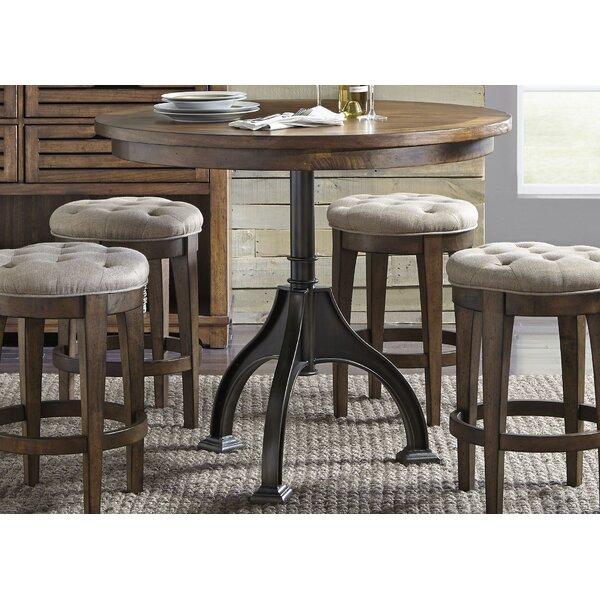 Williston Forge Tucker Black Round Dining Table Reviews Wayfair