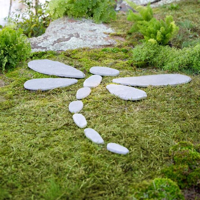 Wind Amp Weather Decorative Stones Dragonfly Stepping Stone