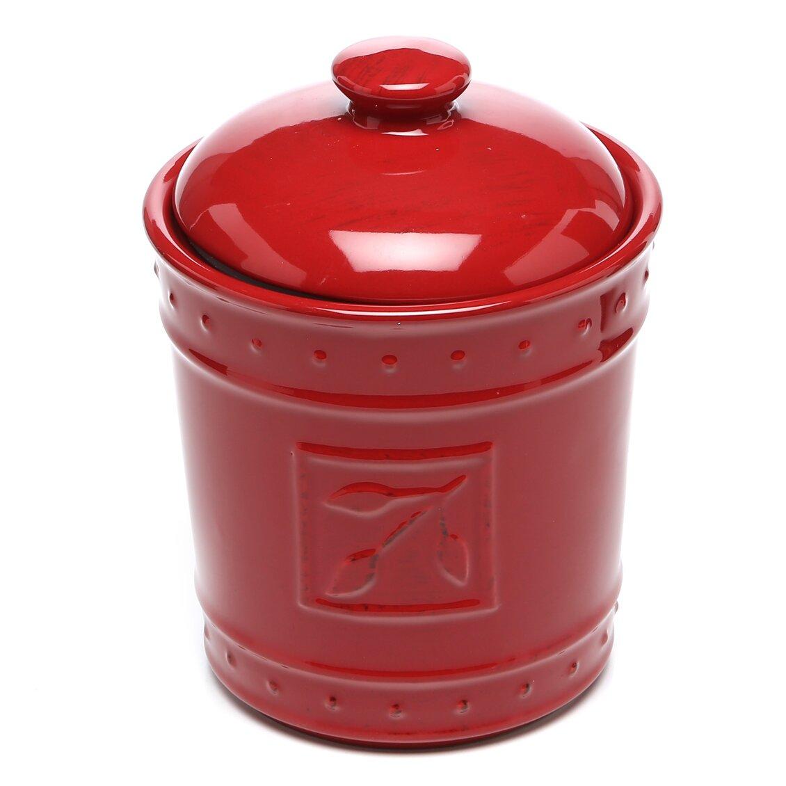 Fleur de lis living dorothy 3 piece kitchen canister set for Naaptol kitchen set 70 pieces