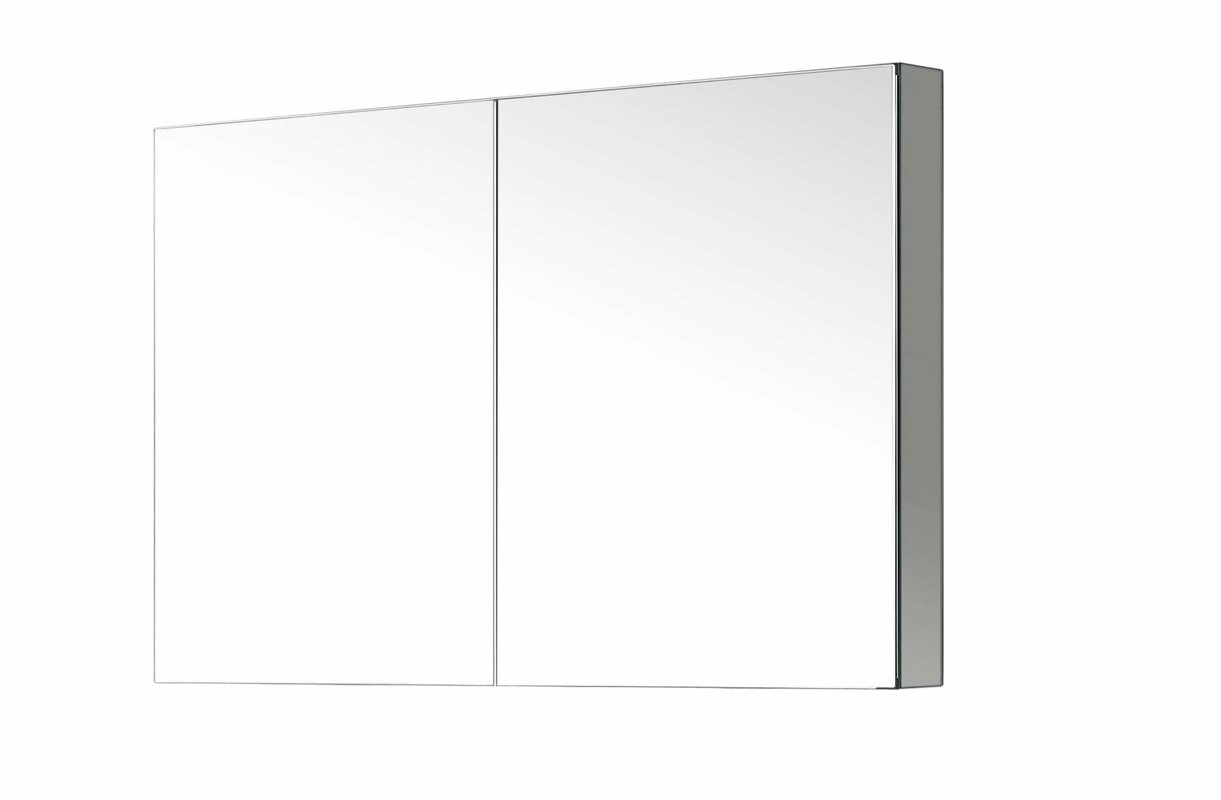 "Virtu USA Confidant 26"" X 40"" Recessed Or Surface Mount"