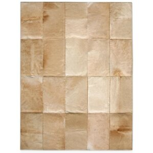 patchwork cowhide mies wheat area rug