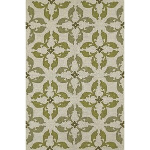 Awesome Cabana Hand Tufted Lime Indoor/Outdoor Area Rug