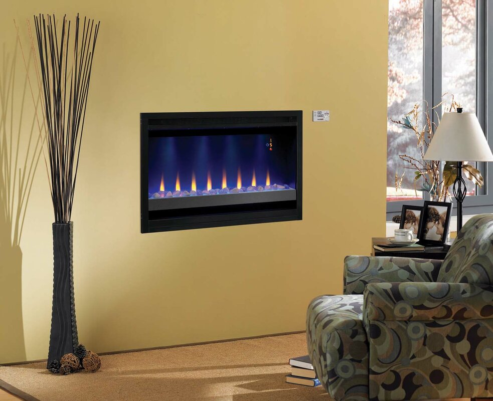 Classic Flame Builder Box Contemporary Wall Mount Electric - Fireplace inserts electric