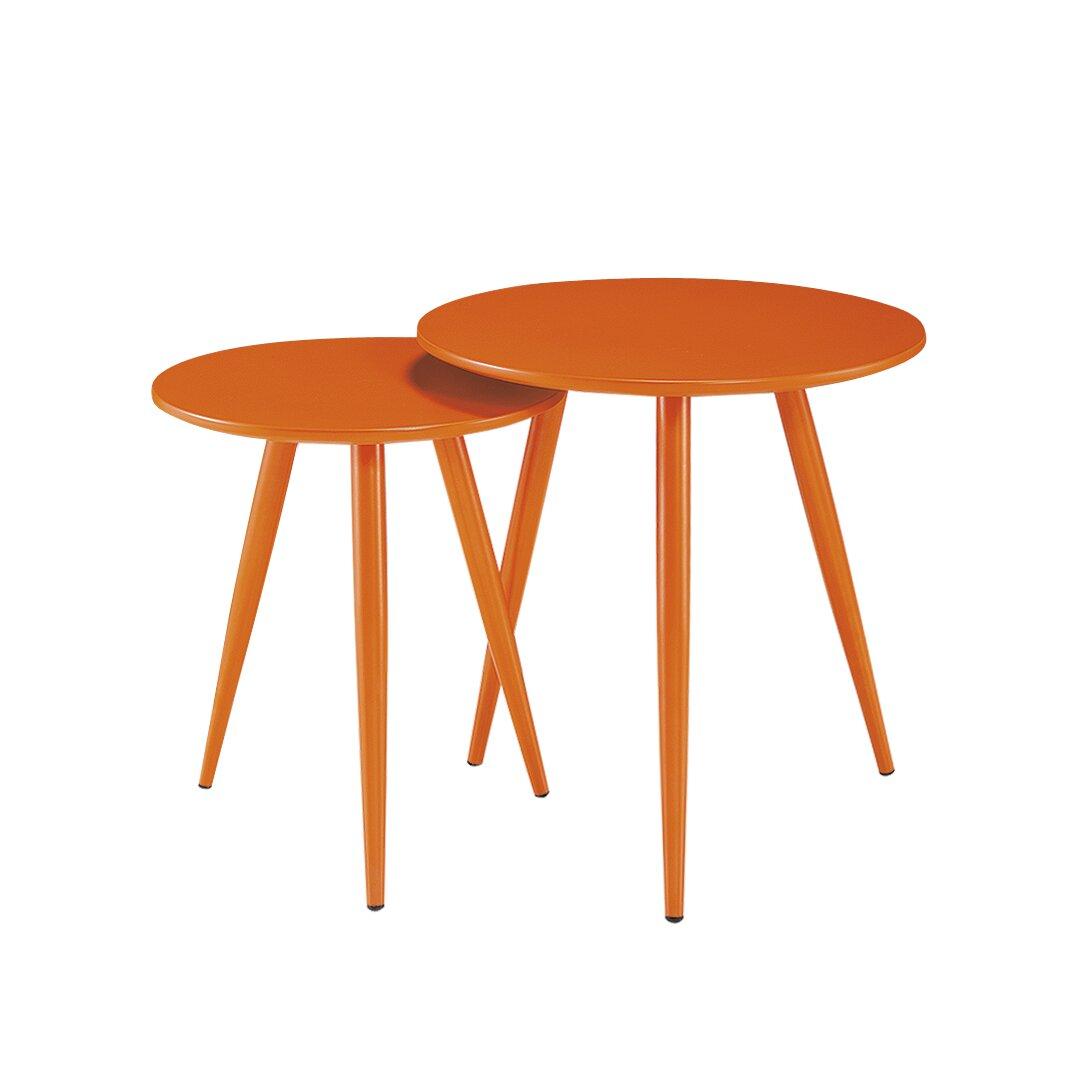 Diamond Sofa DUO 2 Piece Nesting Table Set & Reviews | Wayfair