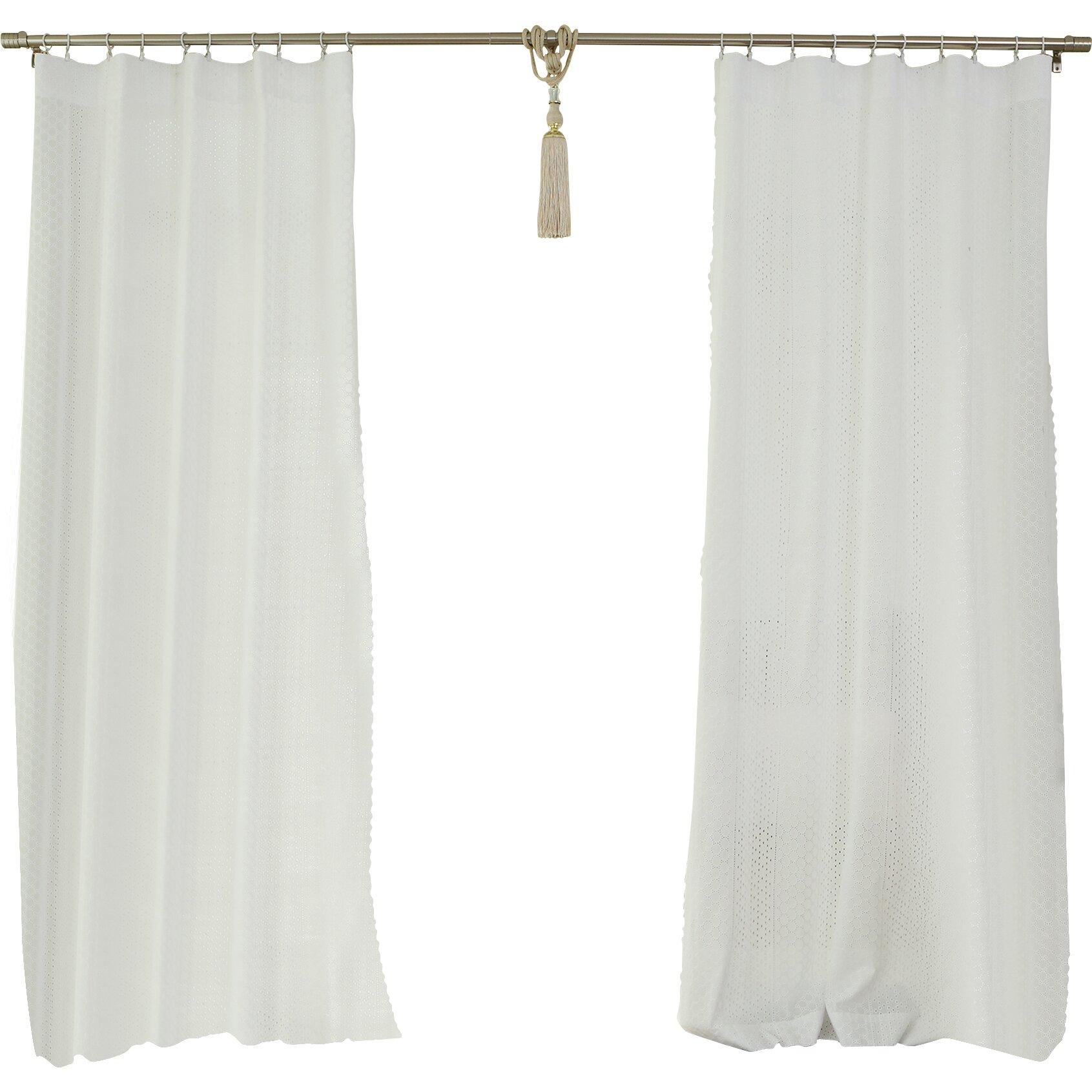 Geometric Semi Sheer Tab Top Curtain Panels Reviews Birch Lane
