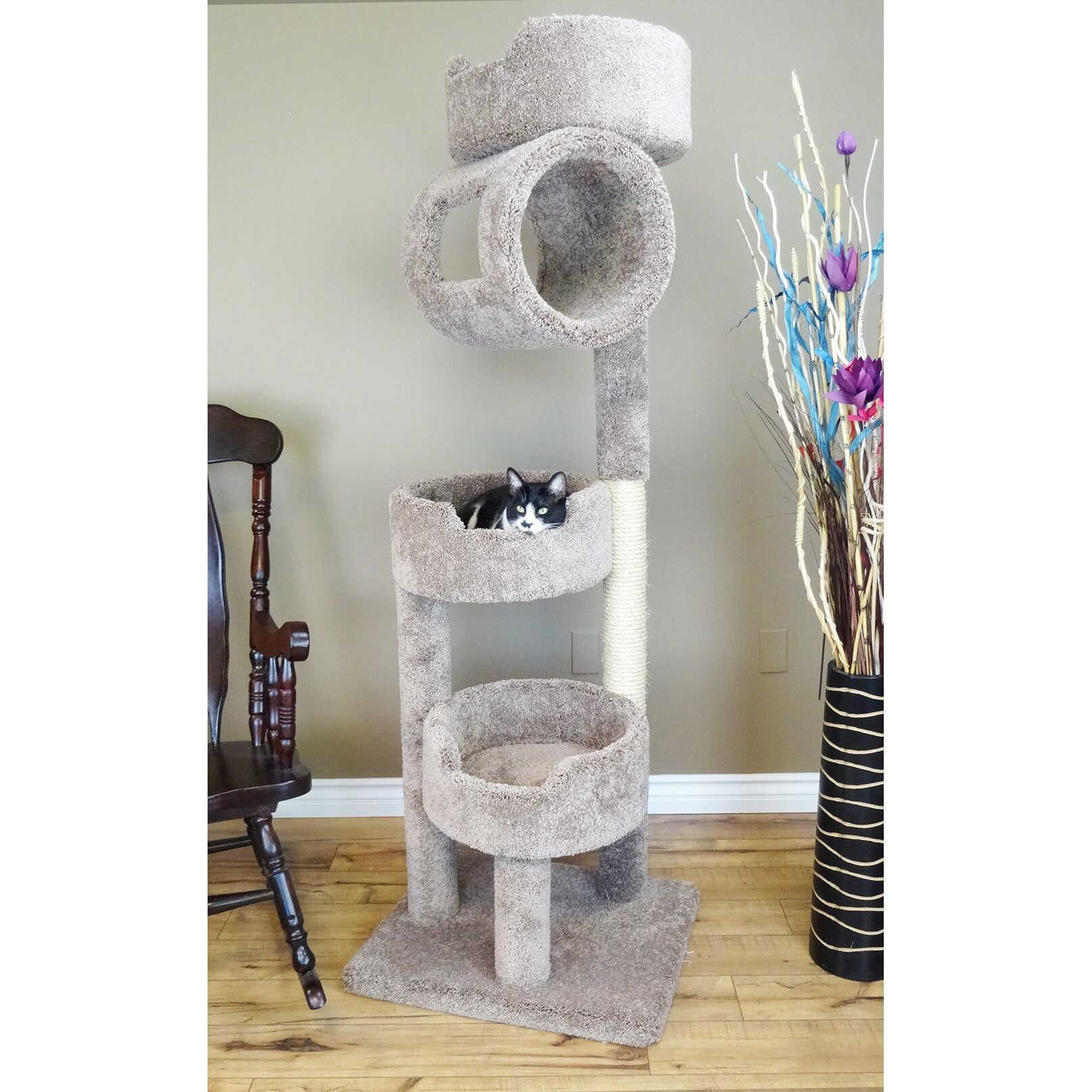 """New Cat Condos 67"""" Premier Twin Tower Cat Tree & Reviews"""