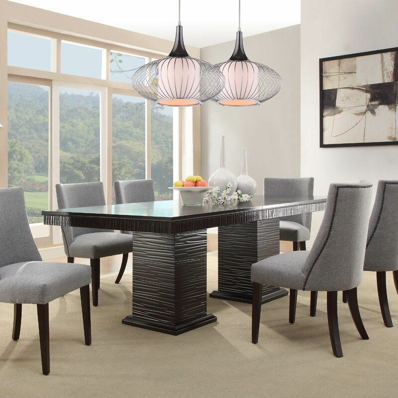 willa arlo interiors cadogan extendable dining table & reviews