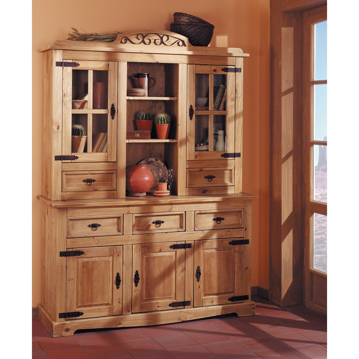 henke collection buffetschrank mexican antik aus. Black Bedroom Furniture Sets. Home Design Ideas