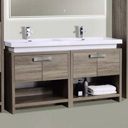 modern double bathroom vanities | allmodern