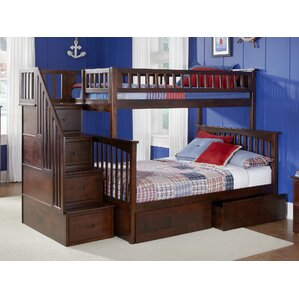 abel staircase twin extra long over full bunk bed with drawers with full extra long bed frame