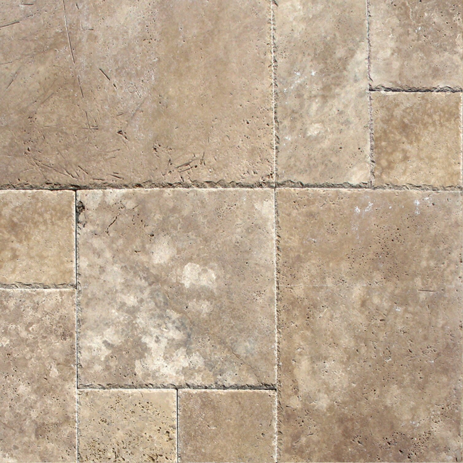 Msi tuscany walnut 6 x 6 39 39 travertine mosaic tile in for Tumbled glass tile
