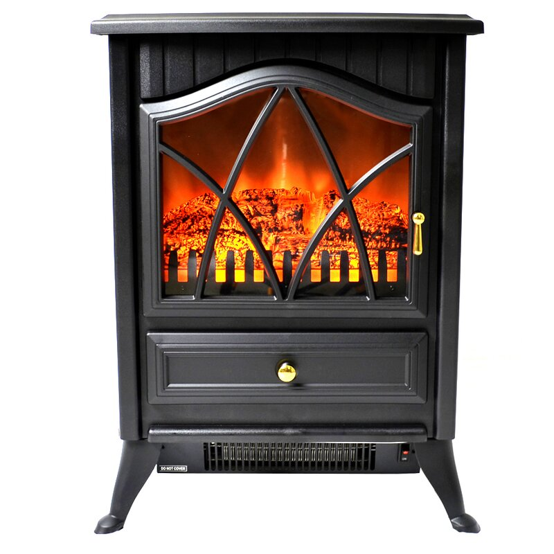Electric Fireplace electric fireplace heater reviews : AKDY 400 sq. ft. Vent Free Electric Stove & Reviews | Wayfair