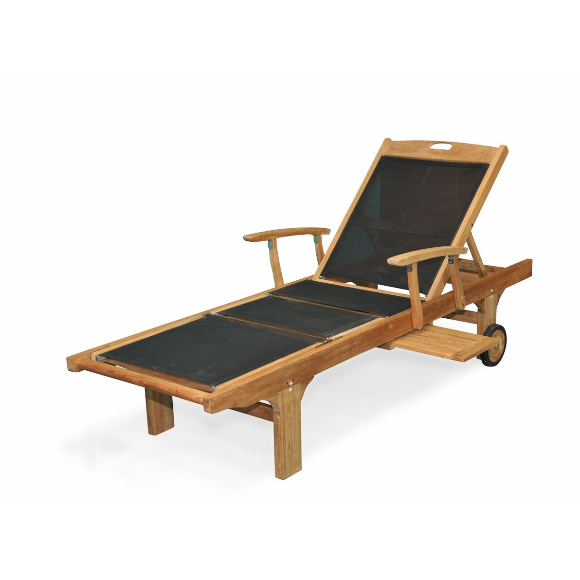 Regal Teak Sling Arm Chaise Lounge & Reviews