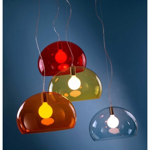 Kartell Fl Y 1 Light Suspension Bowl Pendant Amp Reviews