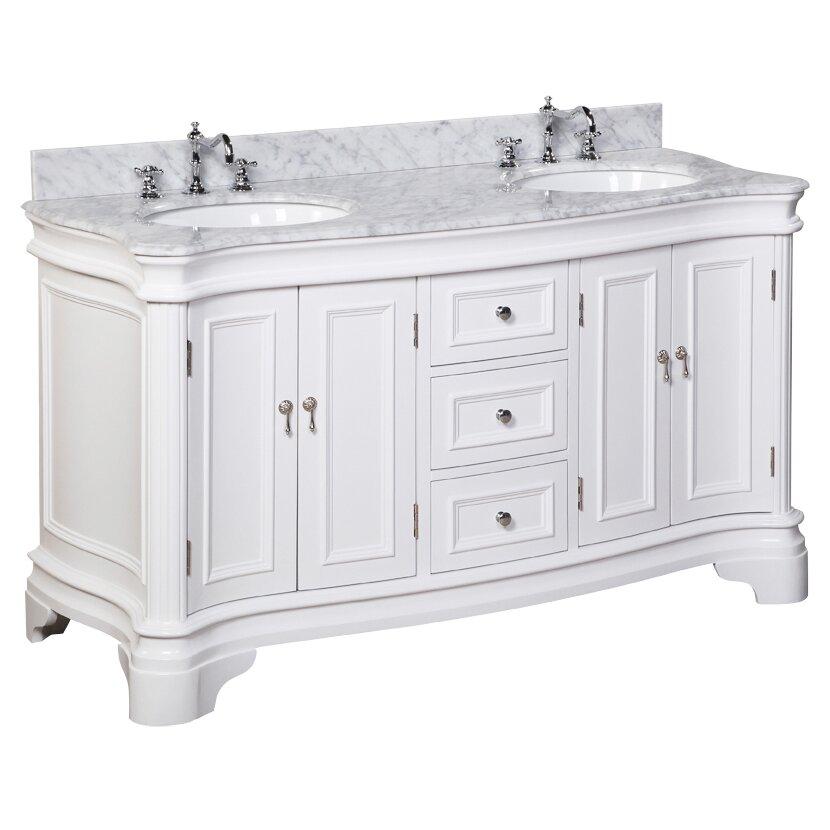 kbc katherine 60 double bathroom vanity set reviews wayfair. Black Bedroom Furniture Sets. Home Design Ideas