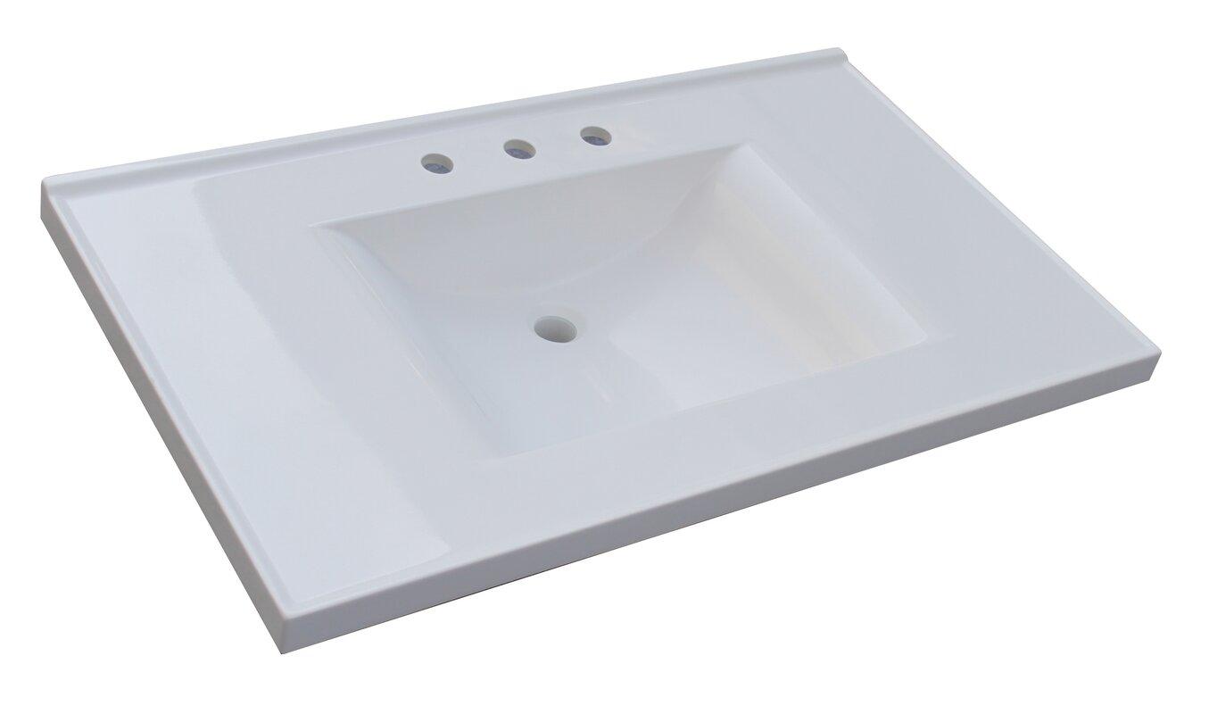 Bathroom vanity tops with sink - 37 Single Bathroom Vanity Top
