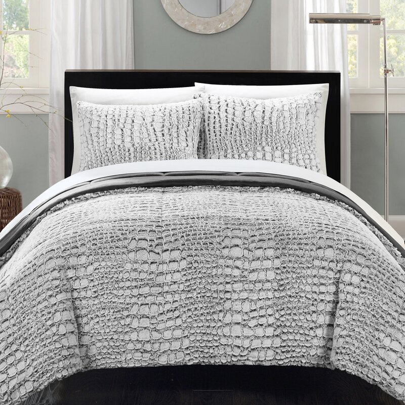 chic home alligator 7 piece queen comforter set & reviews   wayfair