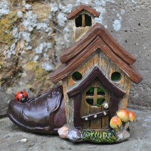 Mystical Cobblers Shoe Fairy Garden House with LED Light Decoration