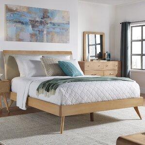 leominster upholstered platform bed - Mid Century Modern Bed Frame