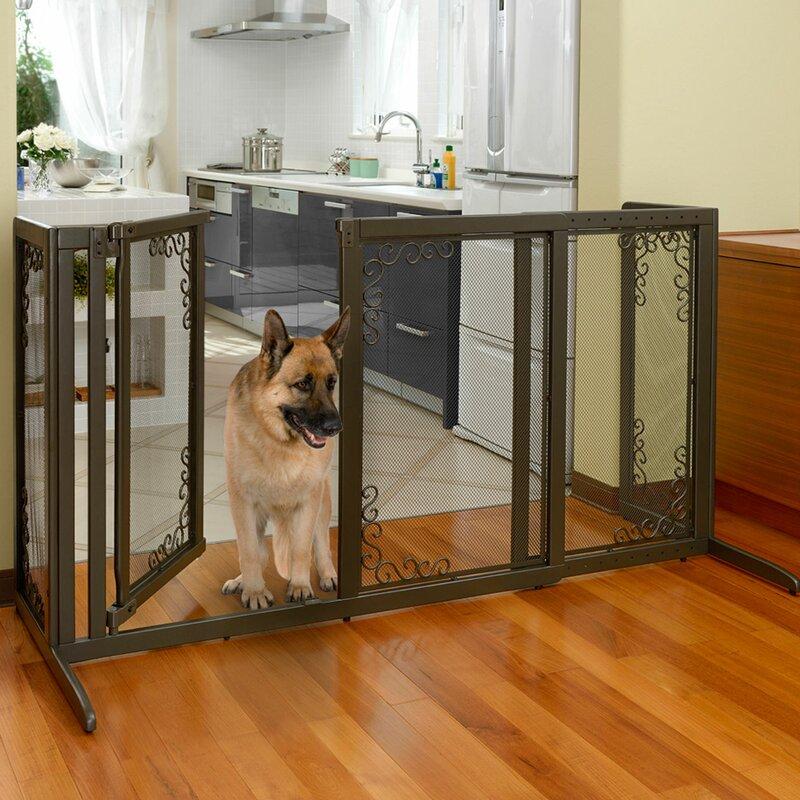 Richell Richell Deluxe Freestanding Mesh Pet Gate